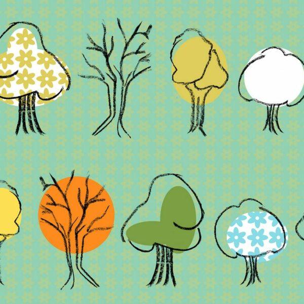 Malus - Sabine Schröter | Baum grün heiter Kids Kinder Kinderzimmer kindlich modern naiv Pflanze Rapport simple