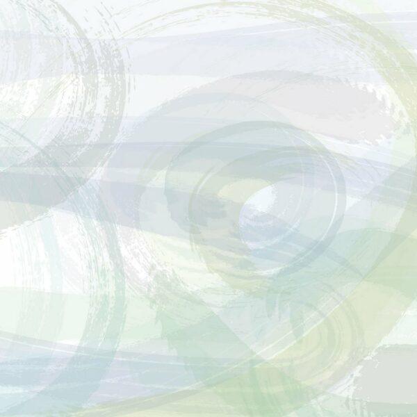 Bono - Sabine Schröter | abstrakt blau gelb geometrisch grün Linien modern Mural Pastell Wandgestaltung