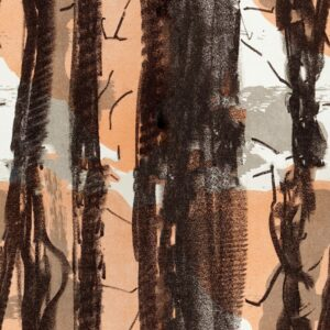 In Trees - Sabine Schröter | abstract brown ethno grey lines nature organic