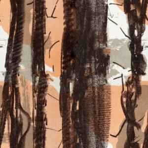 In Trees - Joris Martens | abstrakt braun ethno grau Linien Natur organisch