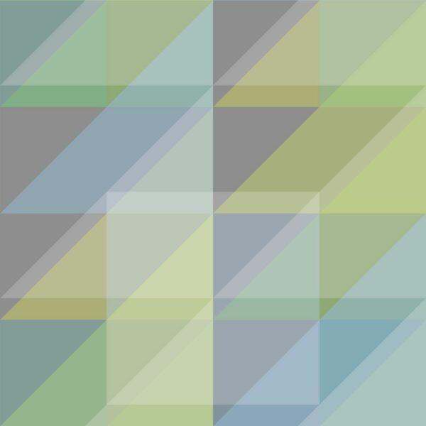 Triangulum - Greens / Light Blue - Sabine Schröter | abstrakt blau Dreieck geometrisch graphisch grün kräftig modern Rapport