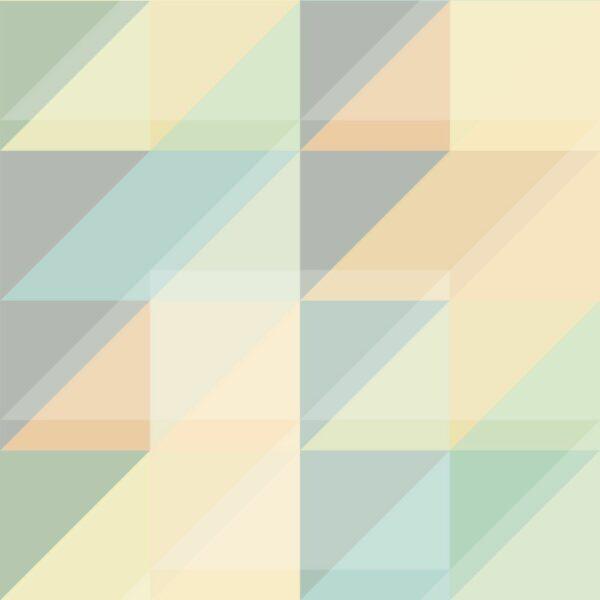 Triangulum - Grey / Orange / Turqouise - Sabine Schröter   abstrakt creme Dreieck geometrisch graphisch grau modern orange Rapport