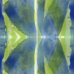 Forty Eight - Joris Martens | abstrakt blau geometrisch grün Strukturen Textur Wasserfarbe