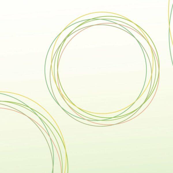 Orbis - Reseda - Sabine Schröter | abstrakt geometrisch grün Kreise modern Mural Reseda Ring Wandgestaltung zart
