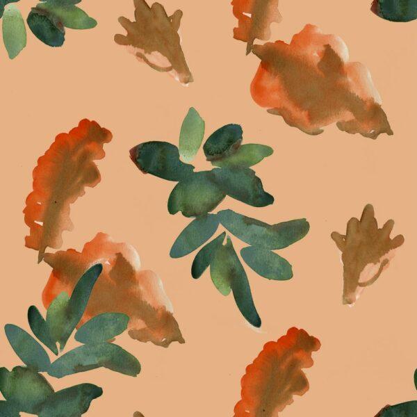 Floral Passage - Joris Martens   floral grün Natur orange