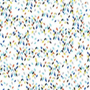Manhattan (schwarz-rot) - Lise Froeliger | geometrisch Konfetti Multicolor Regen