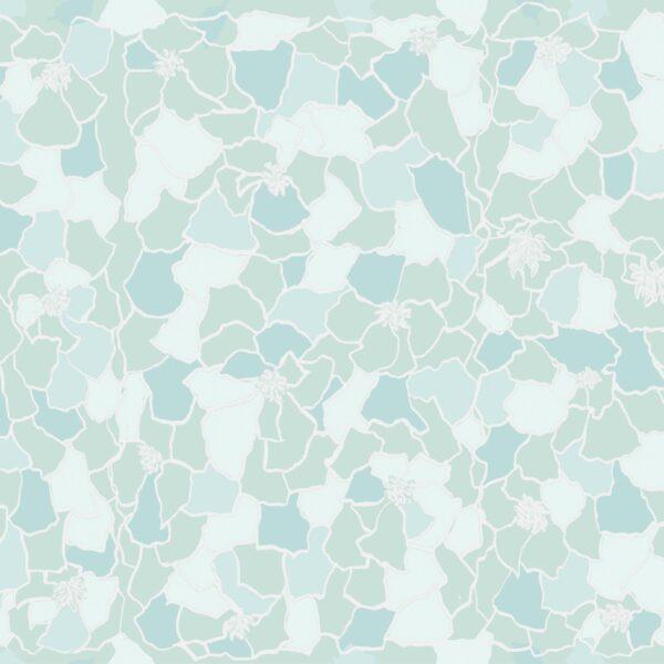 Marigold (grün) - Lise Froeliger | Blätter floral grün hellgrün Mosaik Pastell Ringelblume