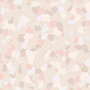 Marigold (pink) - Lise Froeliger | Blätter floral Mosaik Pastell pink Ringelblume
