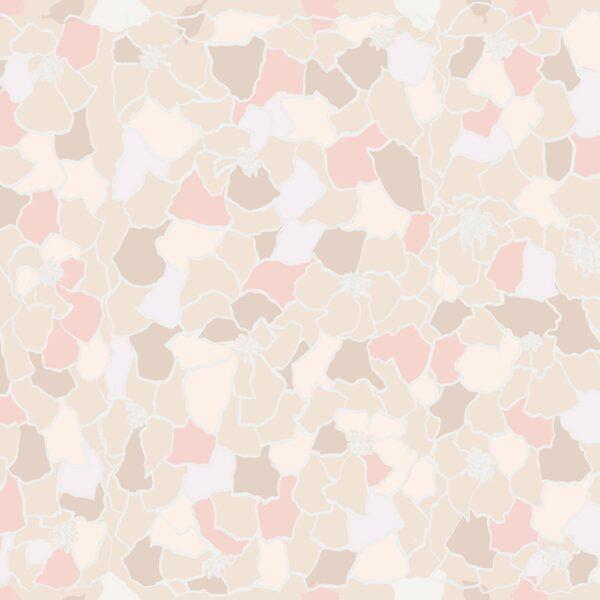 Marigold (pink) - Lise Froeliger   Blätter floral Mosaik Pastell pink Ringelblume