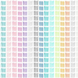 Tapage Nocturne (pastell) - Lise Froeliger | Linien Multicolor Pastell Quadrate Regenbogen Streifen Textur