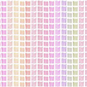 Tapage Nocturne (pink) - Lise Froeliger | Linien Multicolor pink Quadrate Regenbogen Streifen Textur