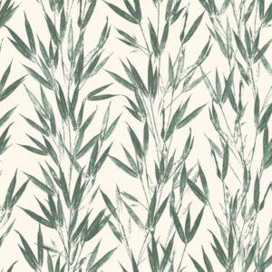 Bamboo-Green - Johanna Skånmyr | Bambus Blätter botanisch grün Japanisch organisch