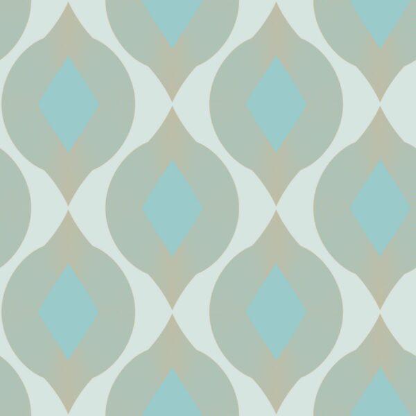 Salmi - türkis / sand - Juliane Sommer | beige geometrisch Linien Ornament Rauten Sand türkis