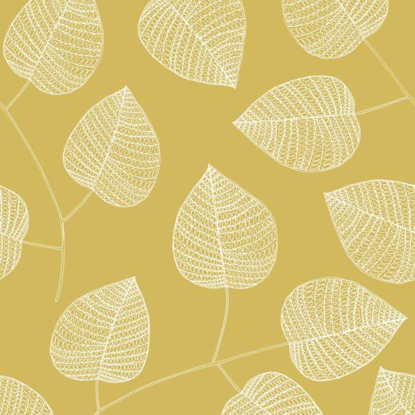 Leaf Design - Bitte Stenstroem | Blatt Blätter Blattwerk Natur senf Skandinavisch