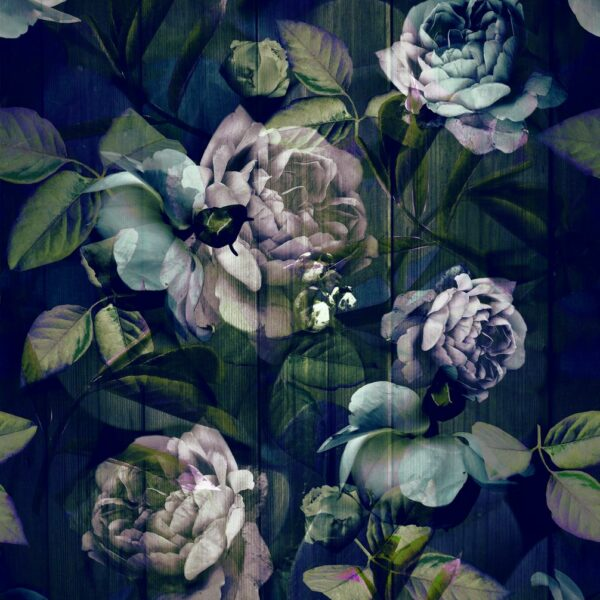 Kews Ghost Roses blue - Annette Taylor-Anderson | Blatt Blätter Blumen floral Laub Natur Rose Rosen
