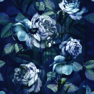 Kews Ghost Roses blue velvet - Annette Taylor-Anderson | Blatt Blätter Blattwerk blau Blumen floral Natur Rose Rosen