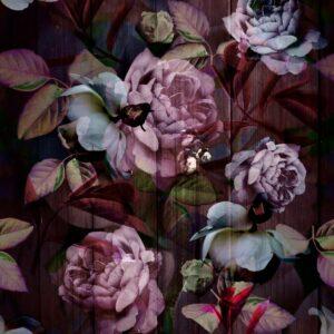 Kews Ghost Roses pinky purple - Annette Taylor-Anderson | Blatt Blätter Blattwerk Blumen floral Natur rosa Rose Rosen