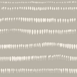 Brushstrokes - creme on grey - Julia Schumacher | abstract brushstrokes ethno graphic horizontal lines modern monochrome stripes waves