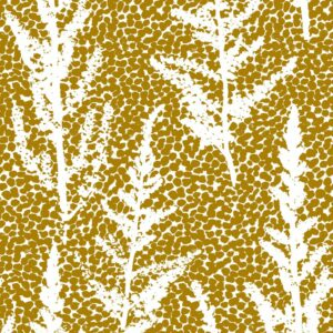 Euphoria - Julia Schumacher | abstract dots elegant floral grass maize mustard nature silhouette yellow