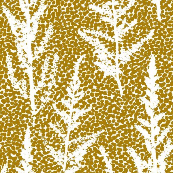Euphoria - Julia Schumacher | abstrakt elegant floral gelb Gräser mais Natur Punkte Schattenriss senf