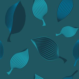 Leaves - Sabine Schröter | abstract allover blue leaves lines