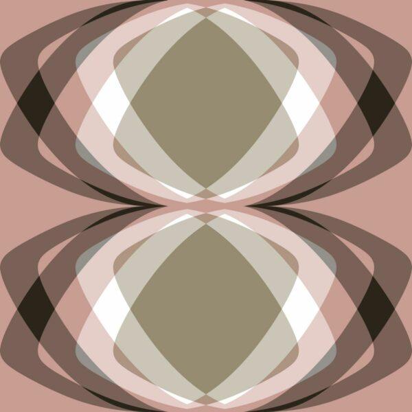 Grafik - intensiv / rosé / green - Juliane Sommer   Geometrie Grafik großzügig Kontrast modern Oliv rosa
