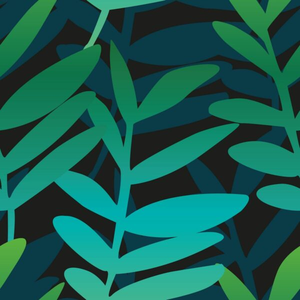 Jungle - grün - Juliane Sommer | abstrakt Blätter Blattwerk Dschungel grün modern Zweige