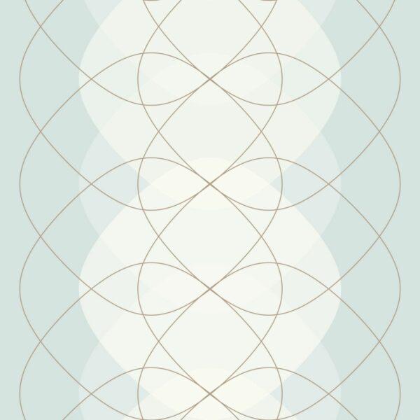 Grind Lines - Juliane Sommer | abstrakt blau Linien Liniengrafik Pastell türkis zart