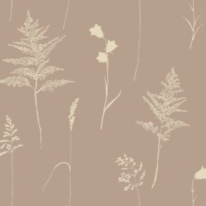 Botanica - Sabine Schröter | abstract bicolored canterbury bells elegant fern floral grass nature reduced silhouette