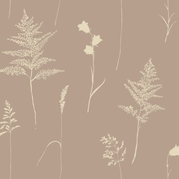 Botanica - Julia Schumacher | 2 Farben abstrakt elegant Farn floral Glockenblumen Gräser Natur reduziert Silhouette