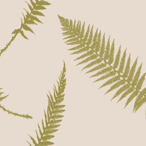 Fern - Gold auf Puder - Julia Schumacher | abstrakt beige creme edel elegant Farn floral gold Natur Schattenriss zeitlos