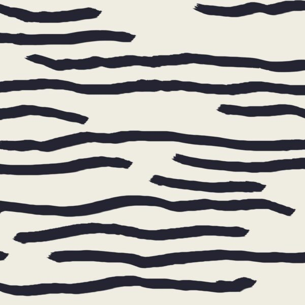 Water - Julia Schumacher | abstract black creme graphic horizontal modern skandi stripes water waves