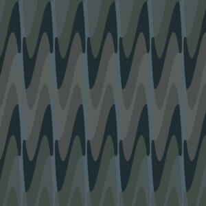 Steps-dark - Juliane Sommer | abstrakt dunkel Geometrie Grafik grau Oliv schwarz türkisblau Wellen