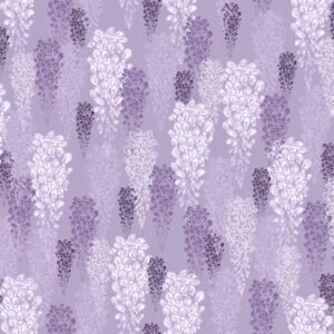Glycine (violett) - Lise Froeliger | Blumen floral frisch Glyzine Lavendel lebhaft lila modern violett