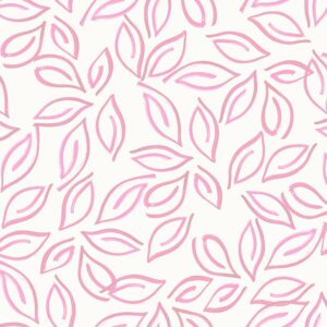 Samoa Leaves (pink) - Lise Froeliger | exotic leaves pink stylized tropical
