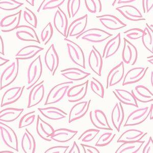 Samoa Leaves (pink) - Lise Froeliger | Blätter exotisch pink stilisiert tropisch