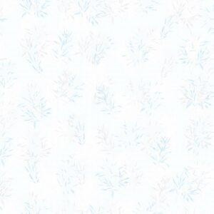 Laure Gramineae (blau) - Lise Froeliger | Blätter blau Harmonie modern Pastell Pflanzen Textur zart