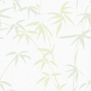 BAMBUS HARUNDO, Light Green - Sabine Schröter | Bambus Blätter botanisch hell Pflanze Rapport Strukturfond
