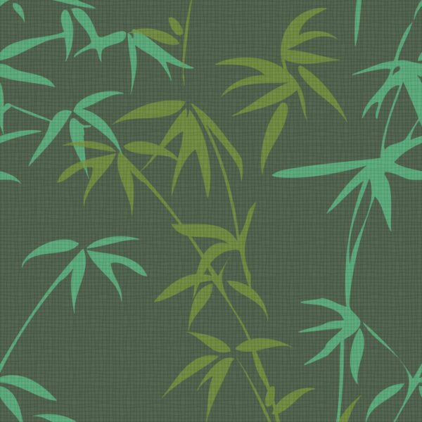 BAMBUS HARUNDO, Dark Green - Sabine Schröter | Bambus Blätter botanisch dunkel Pflanze Rapport Strukturfond