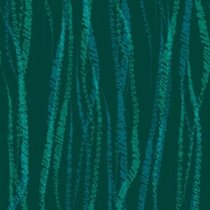 FLUX, Petrol - Sabine Schröter | abstrakt Duktus flächig Handschrift Linien modern Rapport soft