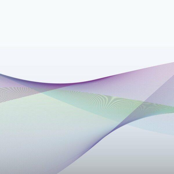 Dynamic Zones - Violet-Turqouise - Sabine Schröter | abstrakt blau geometrisch Linien modern Mural Pastell türkis violett Wandgestaltung Wellen