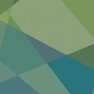 AREA, Blue Green - Sabine Schröter | abstrakt Felder Flächen geometrisch modern Mural Wandgestaltung