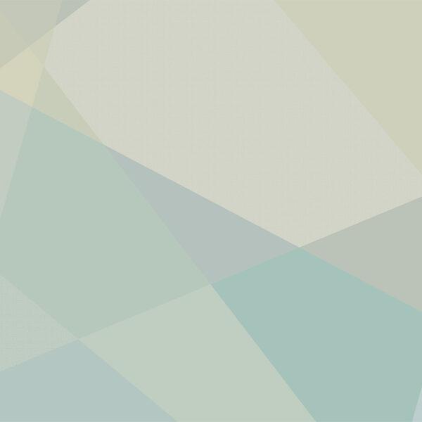 AREA, Lightgrey Green - Sabine Schröter | abstrakt Felder Flächen geometrisch modern Mural Wandgestaltung