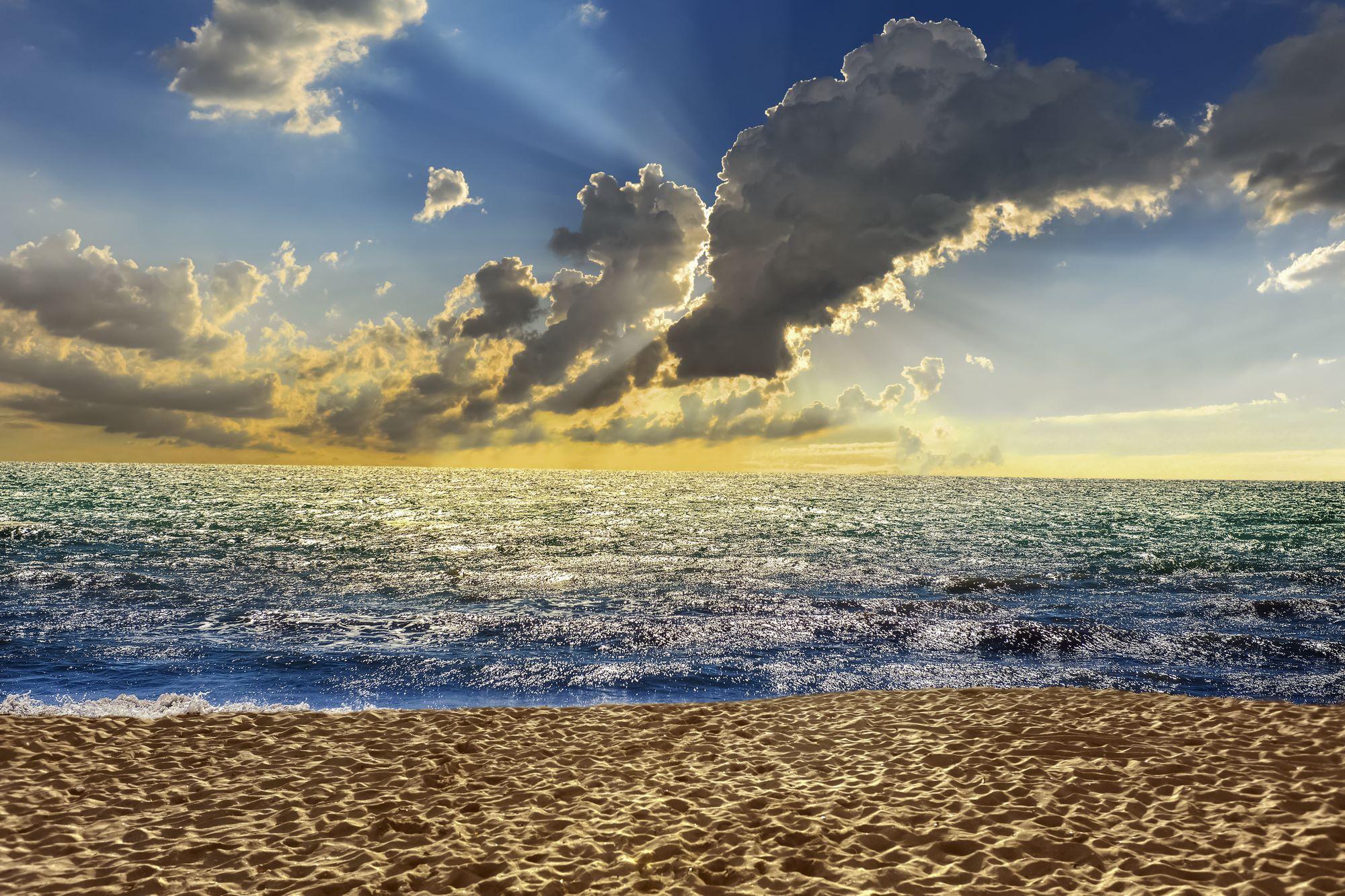 strand meer himmel  designerwallpaper  tapeten