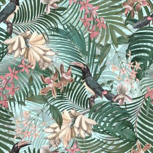 Wallpaper Tucan Tropical Night Jungle