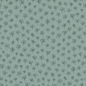 Tapete Blüten Wirbel - Blau