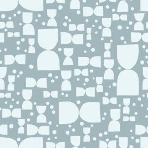 Tapete Cut-Outs Paper Shapes - Blau